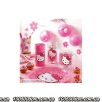 Стакан высокий Luminarc Diisney  Hello Kitty Nordic Flower 300мл, 2 предмета